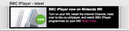 BBC iPlayer en la Wii de Nintendo