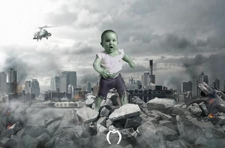 Hulk foto bebé original