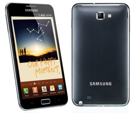 Samsung Galaxy Note: 5.3 pulgadas Super AMOLED, resolución WXGA y puntero S Pen