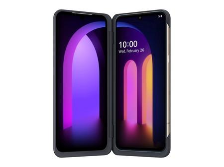 V60 ThinQ 5G: LG no confía en los plegables y sigue apostando por la doble pantalla, con Snapdragon 865 y cámara de 64 megapixeles