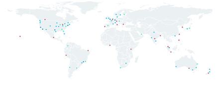 Mapa Servidores Fastly