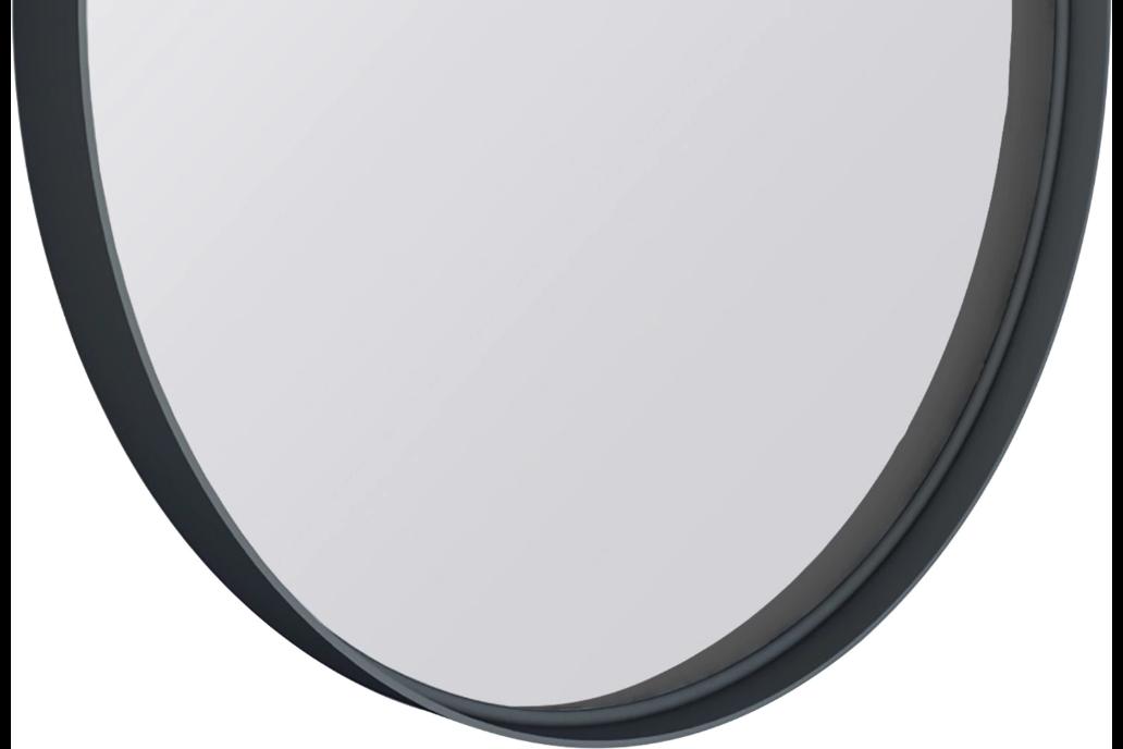 Kende black bathroom mirror 60 x 60 cm