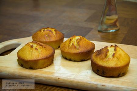 Muffins de chispas de chocolate. Receta