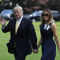 Melania Trump regresa de Japón con la misma marca que lució al irse, eso si con un vestido mucho más discreto