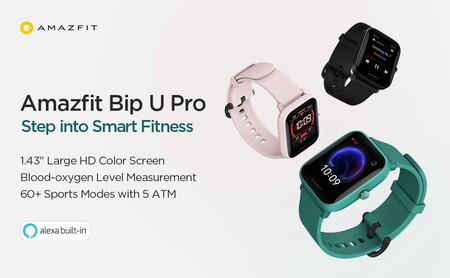 Amazfit Bip U Pro: el reloj deportivo de Huami ya incorpora GPS con GLONASS y Alexa