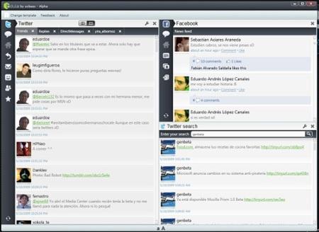 Bdule, un interesante cliente de escritorio para Facebook y Twitter