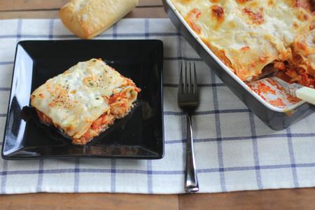 Receta de Lasagne de atún y tomate