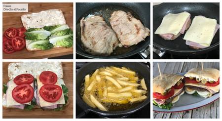 Chivito Uruguayo Sandwich Pasos