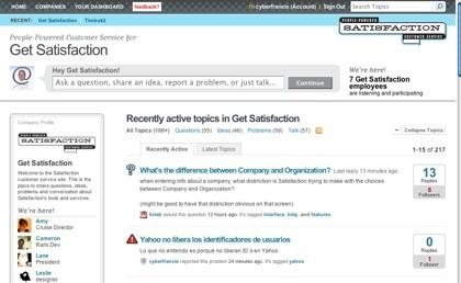 Satisfaction, el soporte acerca de productos y servicios ofrecido por los propios usuarios
