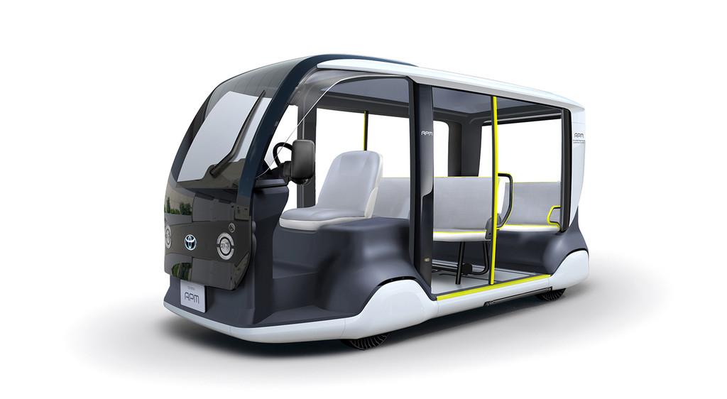 Este pequeño vehículo eléctrico es la lanzadera de Toyota para los Juegos Olímpicos de Tokio 2020