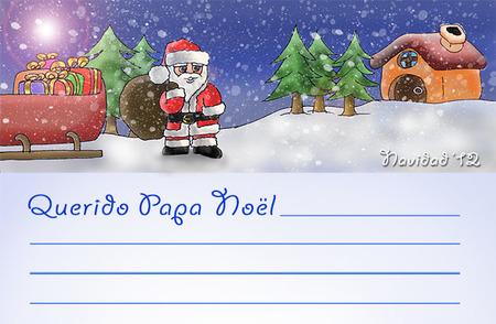Carta para Papá Noel exclusiva de Bebés y más (Navidad'12)