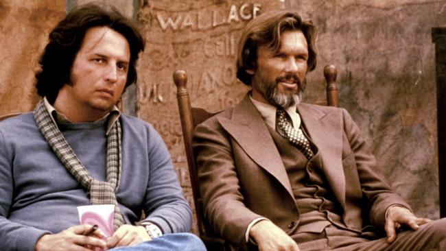 Michael Cimino y Kris Kristofferson en el rodaje de 'La puerta del cielo'