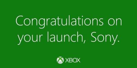 Imagen de la semana: Microsoft felicita a Sony por el lanzamiento de PS4