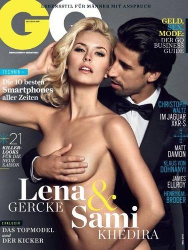 Sami Khedira y su novia Lena Gercke suben la temperatura en GQ Alemania