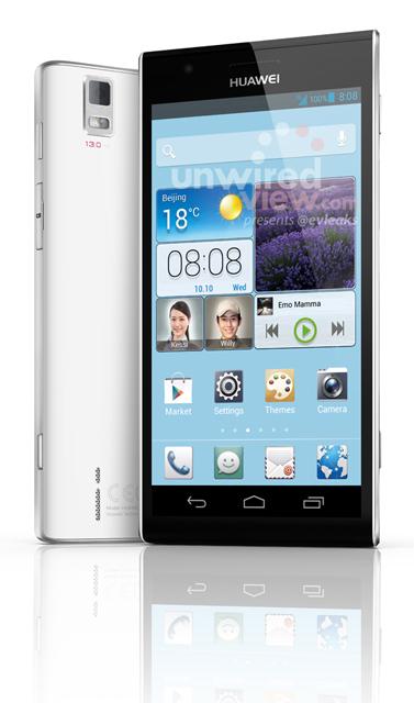 Huawei Ascend P2 nos presume su diseño en una supuesta imagen oficial