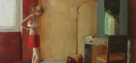 La pintora española de la soledad y el silencio que tanto evoca a Hopper