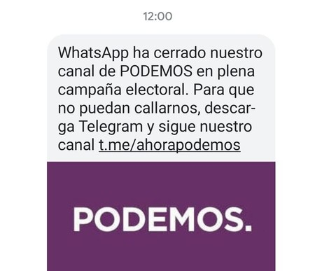 Podemos Telegram