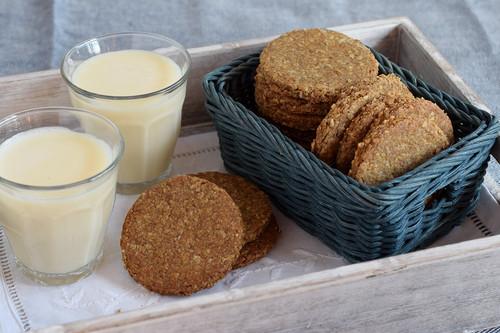 Galletas integrales de avena italianas: receta vegana para el desayuno y la merienda