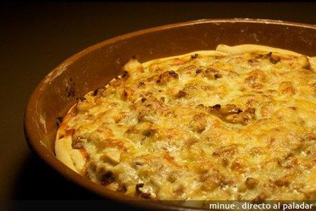 pizza barbacoa - elaboración