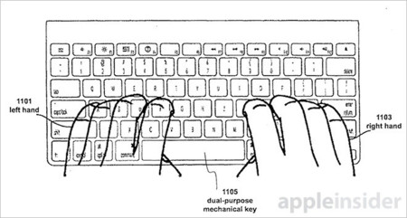 Apple sigue a la búsqueda del teclado definitivo y patenta uno híbrido que detecta entradas táctiles
