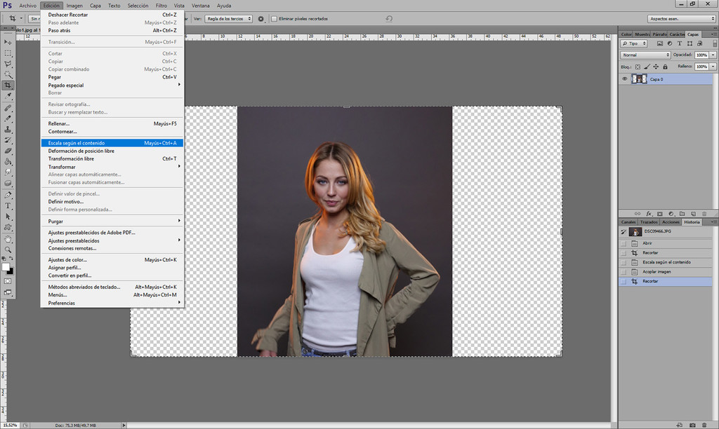 Cómo ampliar el fondo de una imagen fácilmente con Adobe Photoshop