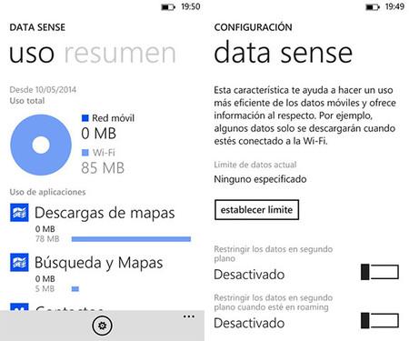 Así es Data Sense: cómo controlar el gasto de datos en tu Windows Phone