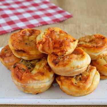 Cómo hacer tiernos bollitos de pizza: receta fácil de picoteo o merendola salada