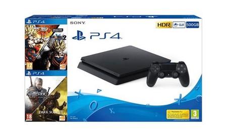 En MediaMarkt tienes la PS4 Slim de 500 GB con 4 juegazos de acción por sólo 249 euros