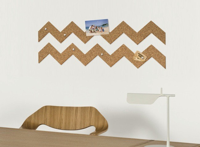 Roll And Pin Cork Pinboard On Wall Grande