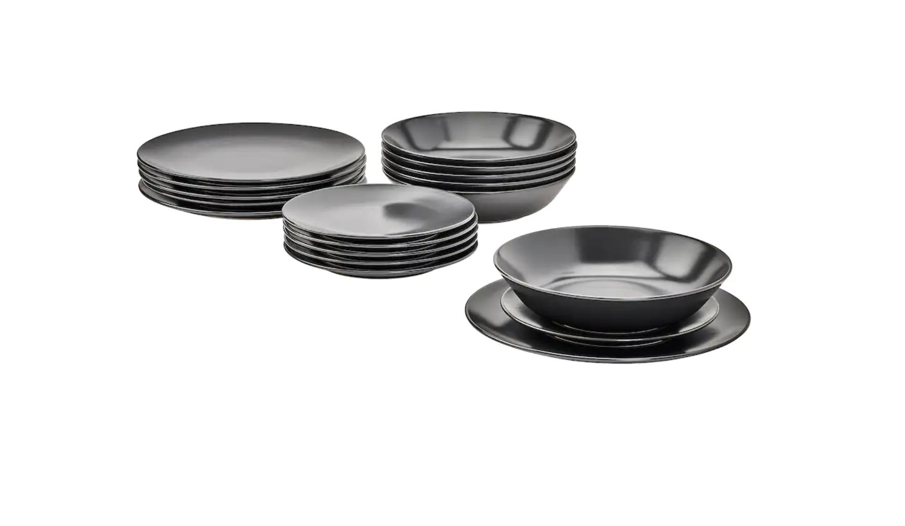 La cerámica con esmalte de acabado mate le da un toque especial a la serie Dinera. Todas las piezas son apilables, aptas para el lavavajillas
