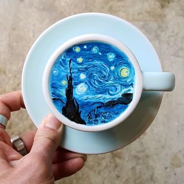 Las obras de arte que este barista coreano hace sobre la espuma del café son tan increíbles que no podemos dejar de mirarlas