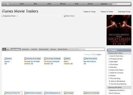 Apple Trailers 2010