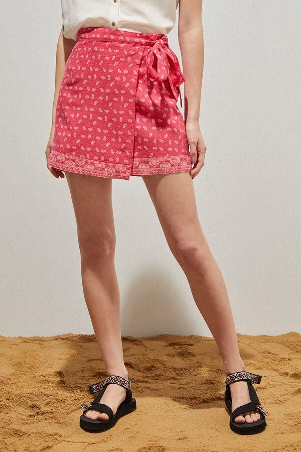 Falda pareo paisley de lino y algodón orgánico