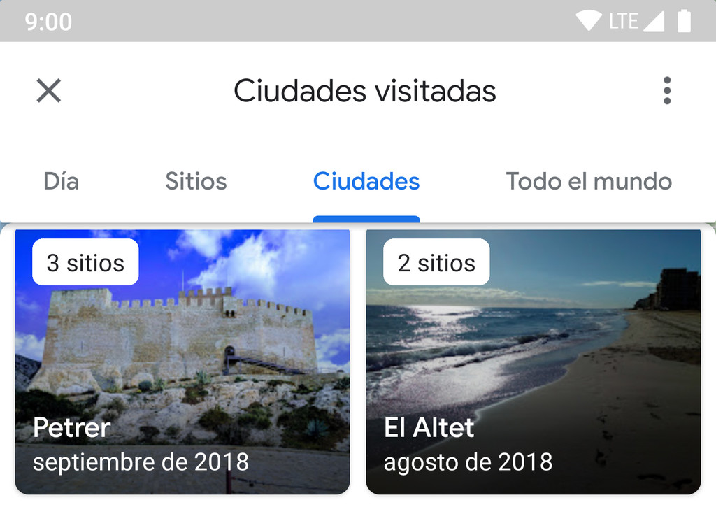 this is the new Chronology of Google Maps: now with lists of sites, cities and countries visited
