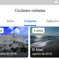 Así es la nueva Cronología de Google Maps: ahora con listas de sitios, ciudades y países visitados