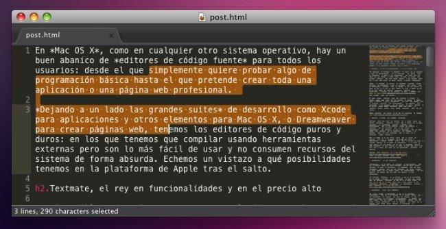 sublimetext2 editor código mac os x snow leopard