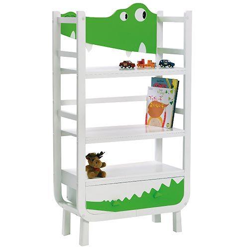 Divertida habitación infantil en blanco y verde