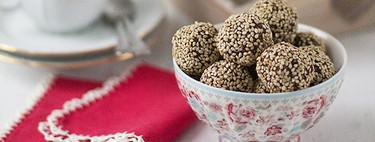 Bolitas de chocolate con albaricoque y naranja: receta fácil