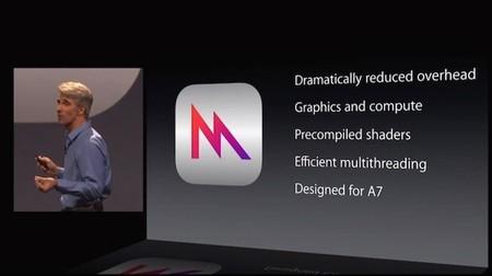 Craig Federighi en la presentación de Metal para su CPU A7