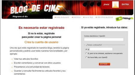 Registrarse en Blogdecine, mucho más fácil y rápido