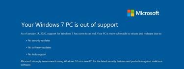 Qué implica seguir con Windows 7 a partir de hoy, tras el fin de soporte