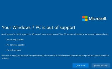 Qué implica seguir con Windows 7 tras el fin de soporte