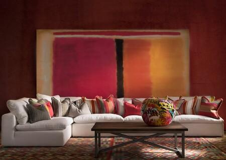Volcano Sofa In Huntsman Ivory Condor Cushions Landscape
