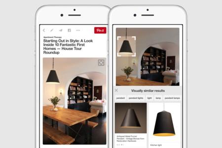 Pinterest piensa que buscar por palabras es cosa del pasado, mejor seleccionar elementos dentro las imágenes