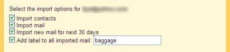 Gmail importacion
