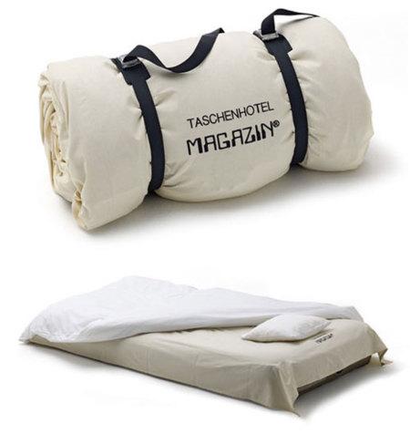 Taschenhotel, con la cama a cuestas