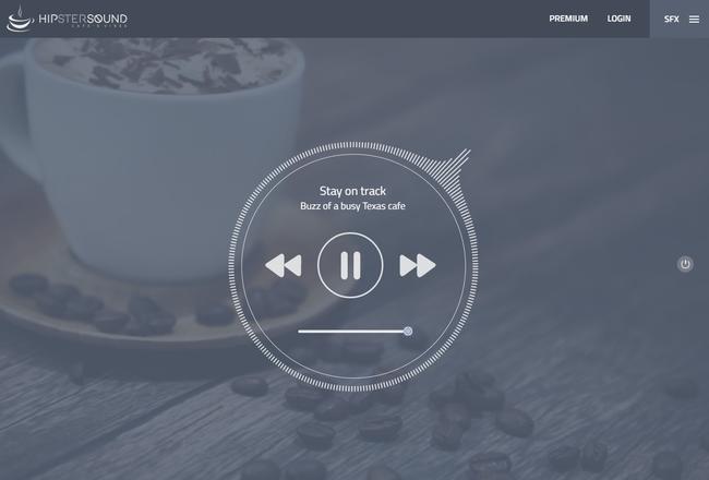 Hipstersound, un generador de sonidos ambientales enfocado en mejorar tu productividad