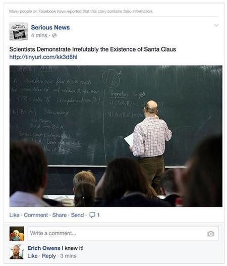 Facebook comenzará a avisar si una noticia es probablemente falsa en tu feed