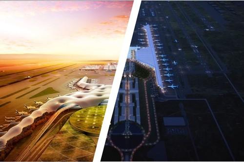 Santa Lucía vs Texcoco, en imágenes: así son los renders del aeropuerto que fue y del que será
