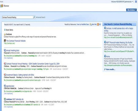 Buesquedas con Microsoft Search Server 2008 Express